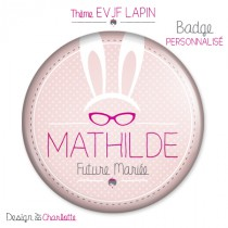 Badge Amour Lapin à personnaliser