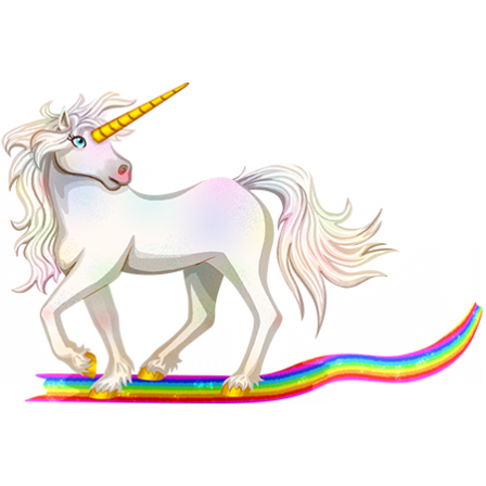 Populaire Stickers Licorne Arc-en-ciel - Stickers Malin ZK77