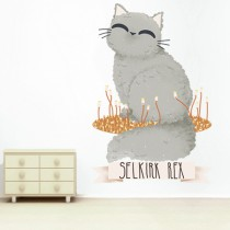 Stickers Chats de Race - Selkirk Rex