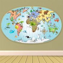 Stickers Carte du monde