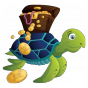 Stickers Animal pirate tortue