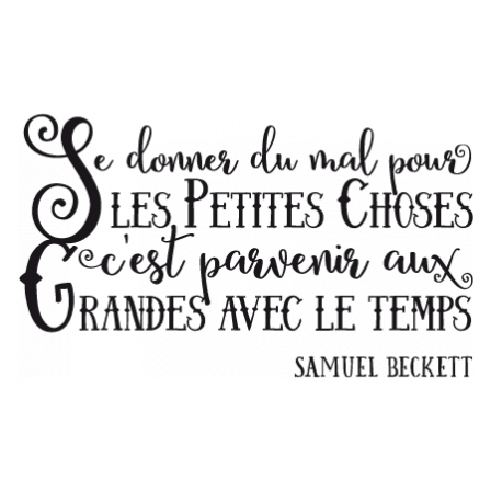 Stickers Citation Grandes Choses
