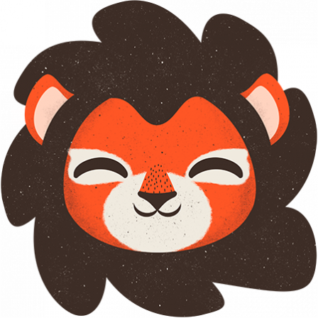 Stickers Animaux de la Jungle - le lion