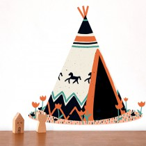 stickers Collection les Indiens - le tipi