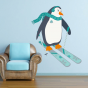 Stickers Animaux Banquise - Pingouin Ski