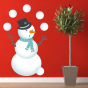 Stickers Banquise - Bonhomme Neige