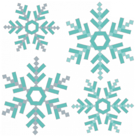 Stickers Banquise - Flocon neige
