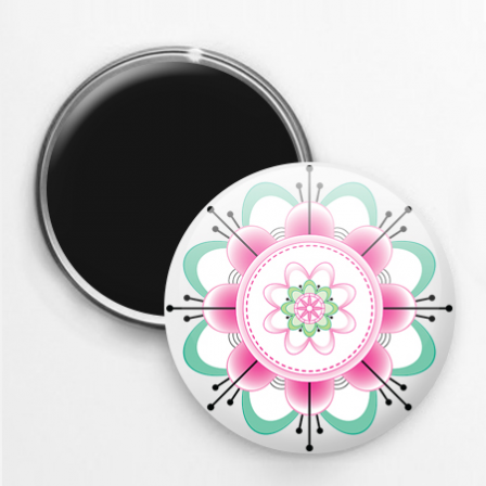 Badge magnet mandala 1