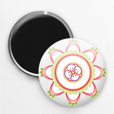 Badge magnet mandala 2