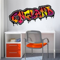 Stickers Graffiti England couleurs