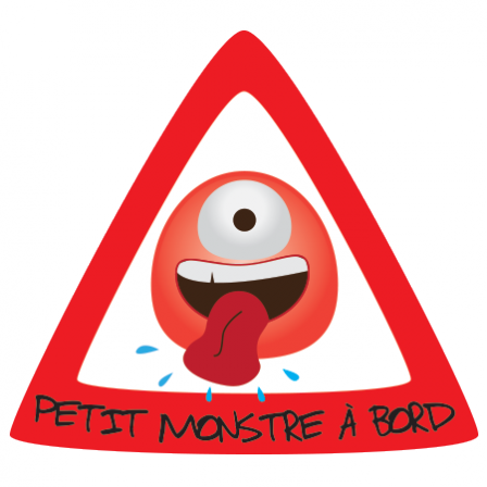 Stickers Petit Monstre à Bord