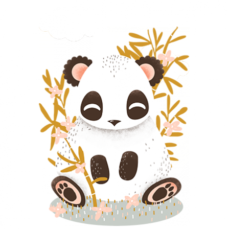 stickers Animignons - panda