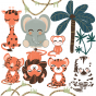 stickers Animignons - planche jungle