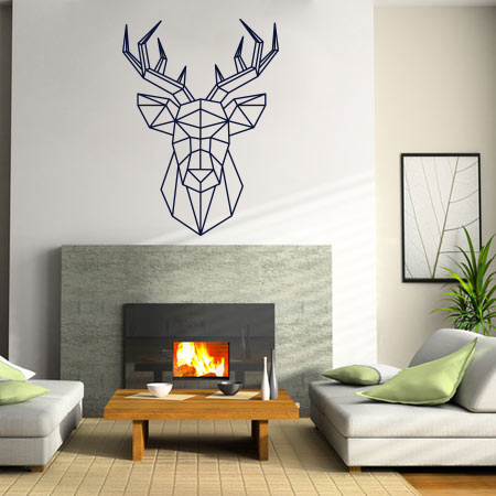 stickers cerf facettes scandinave stickers malin. Black Bedroom Furniture Sets. Home Design Ideas
