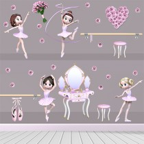Stickers Adorable kit danseuse
