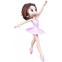 Stickers Adorable danseuse 2