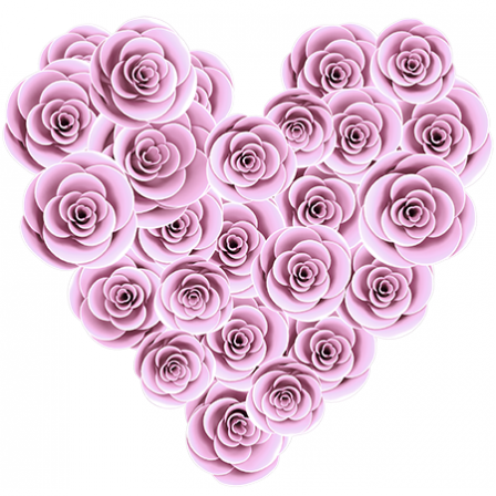 Stickers Adorable coeur roses