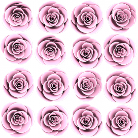 Stickers Adorable 16 roses