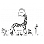 Stickers Animaux de la Savane - La Girafe