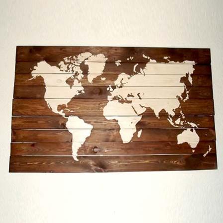 pochoir map monde stickers malin
