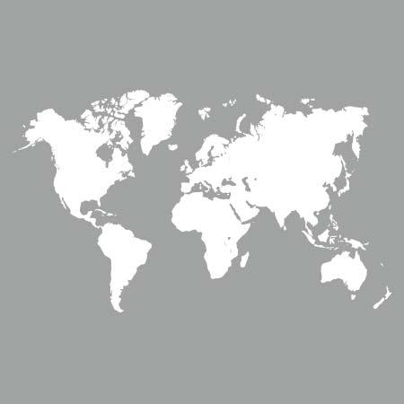 pochoir carte du monde Pochoir Map Monde   Stickers Malin