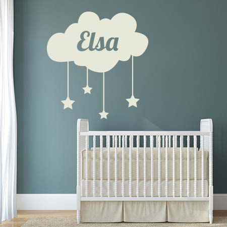 Stickers nuage pr nom stickers malin - Stickers chambre bebe nuage ...