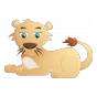 Stickers FELINS Petit lion