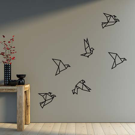 stickers oiseau origami stickers malin. Black Bedroom Furniture Sets. Home Design Ideas