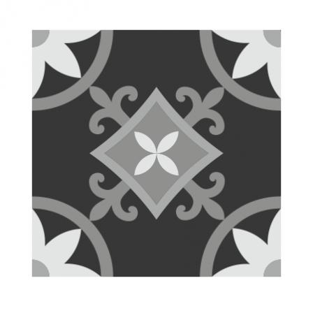 stickers carreaux de ciment fleurs stickers malin. Black Bedroom Furniture Sets. Home Design Ideas