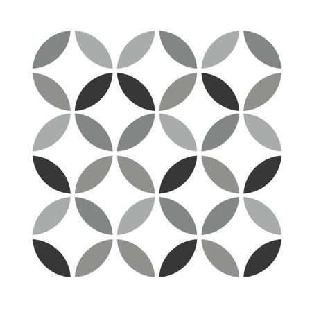 stickers carreaux de ciment 3 ronds stickers malin. Black Bedroom Furniture Sets. Home Design Ideas