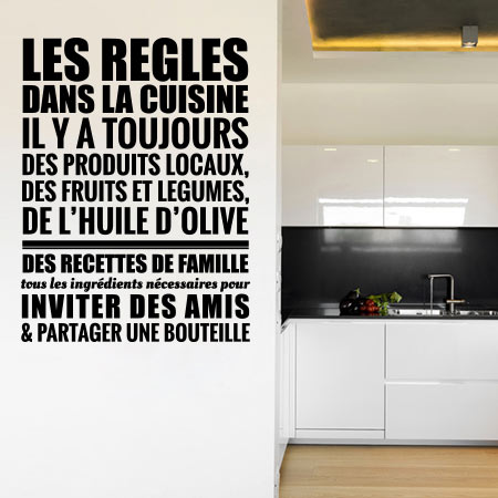 Stickers r gles cuisine stickers malin for Stickers texte cuisine