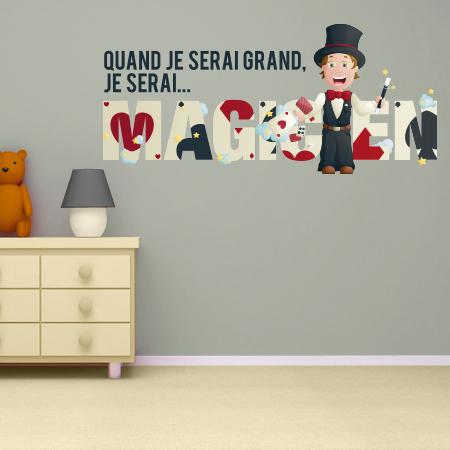 stickers je serai magicien couleur stickers malin. Black Bedroom Furniture Sets. Home Design Ideas