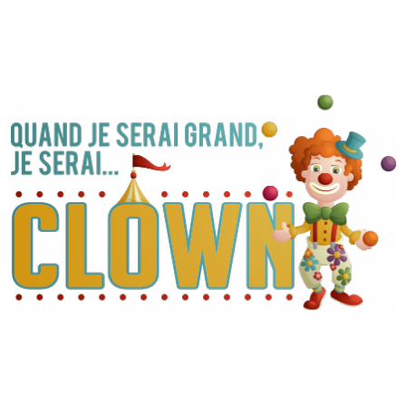 Stickers JE SERAI Clown couleur