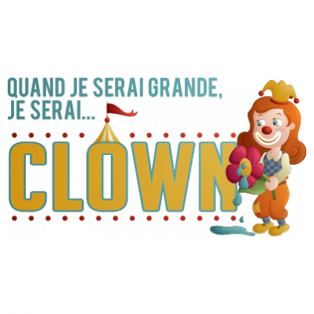 Stickers JE SERAI Clown fille couleur
