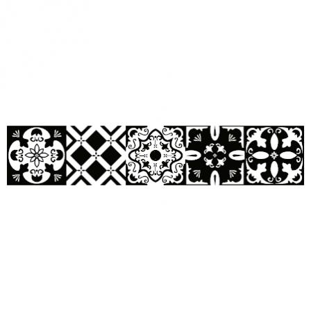 Stickers escalier carreaux de ciment noir et blanc for Stickers carreaux de ciment tati