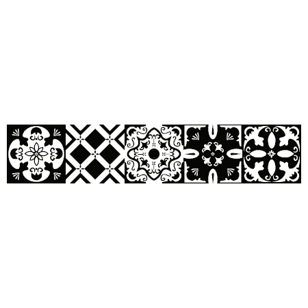 stickers escalier carreaux de ciment noir et blanc stickers malin. Black Bedroom Furniture Sets. Home Design Ideas