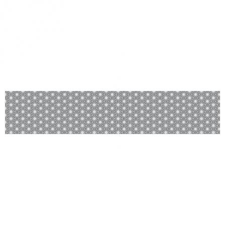 Stickers escalier scandinave motif asanoha gris et blanc stickers malin - Escalier blanc et gris ...