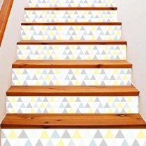 Stickers escalier pastel