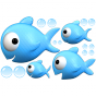 Stickers famille poisson 2