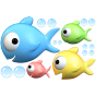 Stickers famille poisson 1