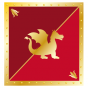 Stickers interrupteur Chevalier Dragon rouge