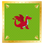 Stickers interrupteur Chevalier Dragon vert