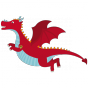 Stickers Chevalier dragon rouge 1