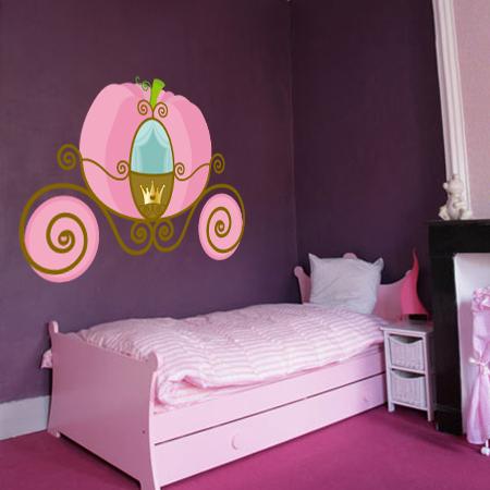 Stickers carrosse de princesse stickers malin - Carrosse de princesse ...