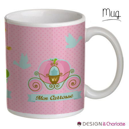 mug ch teau et princesse stickers malin. Black Bedroom Furniture Sets. Home Design Ideas