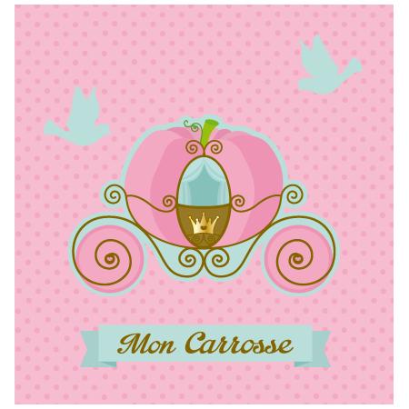 Stickers interrupteur carrosse de princesse stickers malin - Carrosse de princesse ...