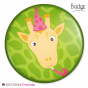 Badge Girafe Party