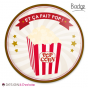 Badge bonbon - Pop corn