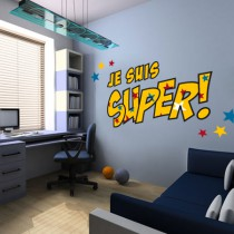 Stickers Je suis Super Héros