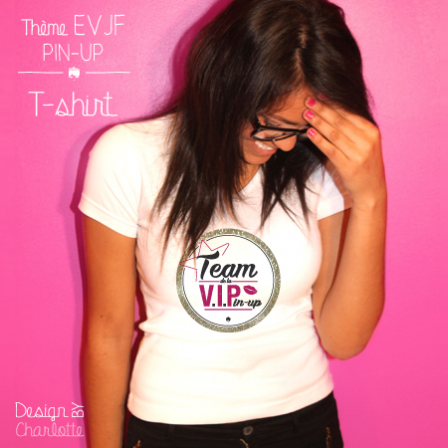 T-shirt Amour V.I.Pin-up Team
